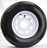 "Eco Trailer Tire Rim ST225/75D15 H78-15 225/75-15 15"" D 6 Lug Wheel White Spoke"