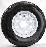 eCustomrim Eco Trailer Tire & Rim ST225/75D15 15'' Load D 6 Lug White Spoke 58899