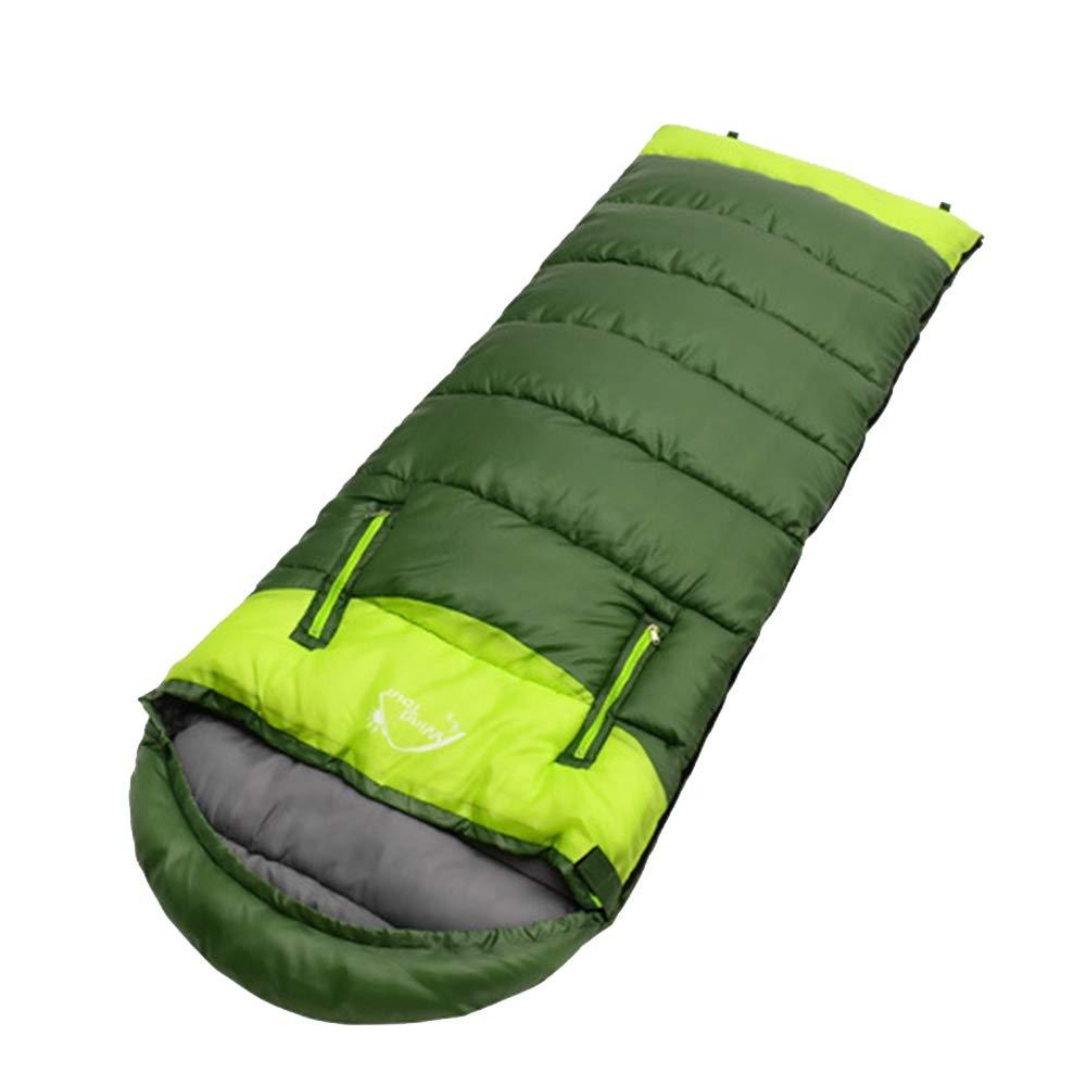 1.95kg  POOU Sac de Couchage de Camping en Plein air équipeHommest d'alpinisme Sac de Couchage Chaud Unique et adapté aux Voyages, au Camping et aux activités de Plein air 1650g