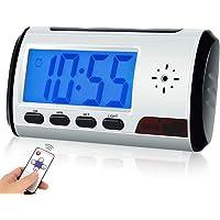 Hidden Camera Alarm Clock Surveillance DVR with IR Night Vision, Motion Detection, 7.5 Hours Long Time Recording, 16GB…