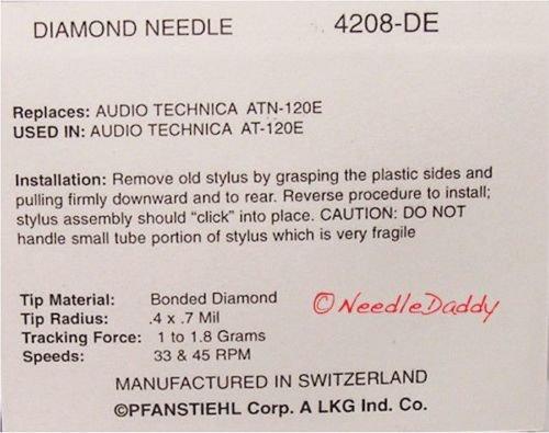 Aguja para audio technica ATN120E at120e atn130e at120e AT130/at130e at140e