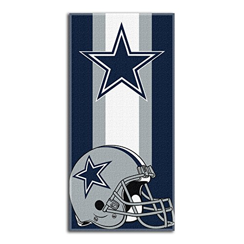 The Northwest Company NFL Dallas Cowboys Zone Read Beach Towel, Navy, 30'' x 60'' -