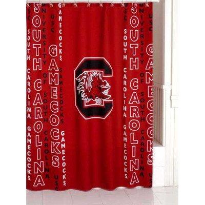 South Carolina Gamecocks Shower Curtain (Carolina Curtain Gamecocks South Shower)