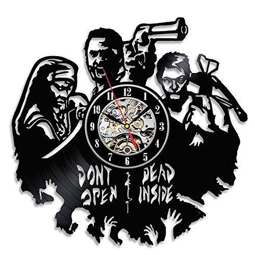 Handmade Walking Dead Theme Wall Décor Vinyl Clock