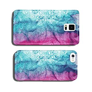 Vector Floral Decorative Elements on watercolor background cell phone cover case Samsung S6