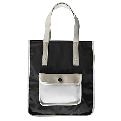 Amazon.com: Womens Nylon Handbag Shoulder Bag Large Capacity Shopping Bag Colorblock Tote Work Bag Top Handle bag: Shoes