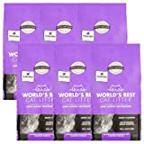 World's Best Cat Litter Lavender Scented Multiple Cat Clumping Formula, 15 lb, 6 Pack