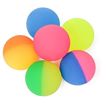 "PROLOSO 2.3"" Bouncy Balls Glow in The Dark High Bouncing Rubber Bright Pet Toys Pack of 6: Toys & Games"