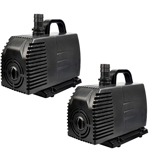 Simple Deluxe 1056GPH UL Listed Submersible Pump with 15′ Cord, Water Pump for Fish Tank, Hydroponics, Aquaponics, Fountains, Ponds, Statuary, Aquariums & Inline, 2-pack