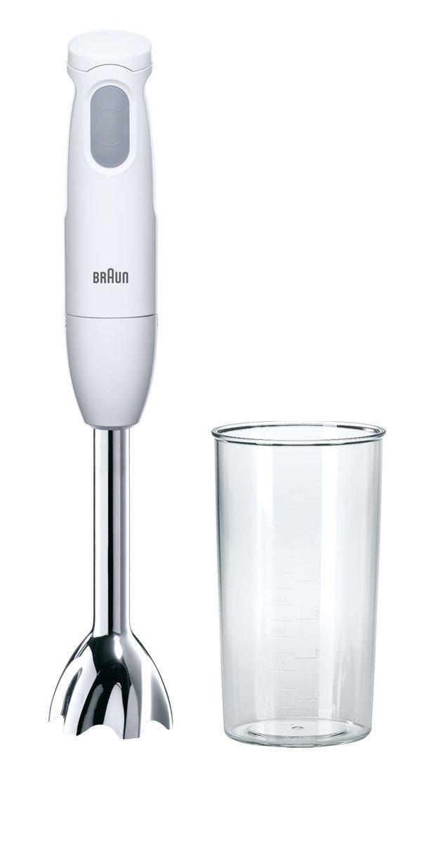 Braun MQ100CURRY Batidora de inmersión, 450 W, 0.6 L, plástico, 12500 RPM, color blanco: Amazon.es: Hogar