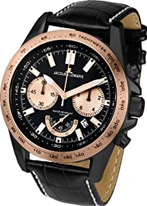 Jacques Lemans Men's Casual Watch Leather Strap - 1-1756F