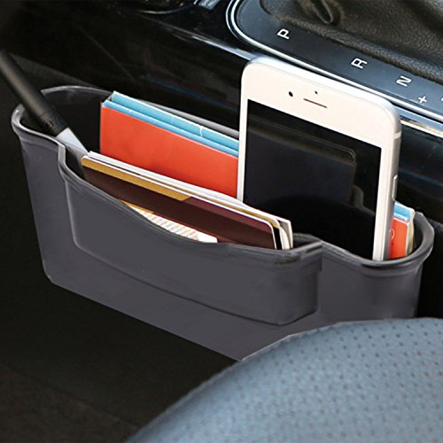 KMMOTORS Double Side Car Organizer Pocket, Dashboard Phone Holder, Console Organizer, Coin Holder, Auto Console Storage for Phones, Earphones, Sunglasses (Ext Pocket)