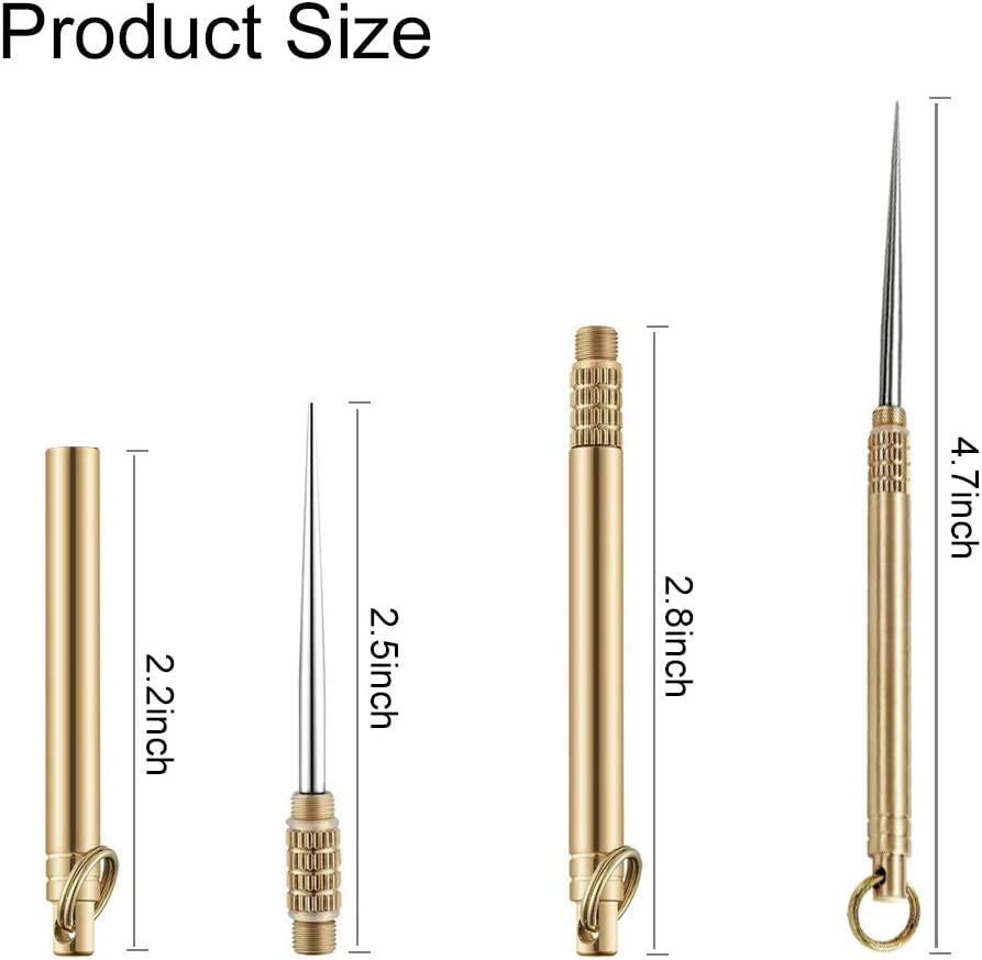 5 Pieces Portable Titanium Toothpick Pocket Toothpick with Metal Toothpick Holder for Outdoor Camping and Picnic