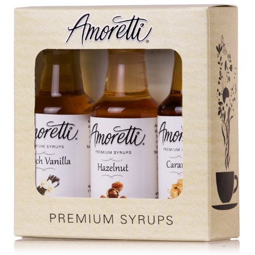 Amoretti Premium Classic Syrups 50ml 3 Pack (French Vanilla, Caramel, ()