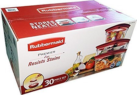 Rubbermaid Premier 30 piece Storage Set - Stain Resistant