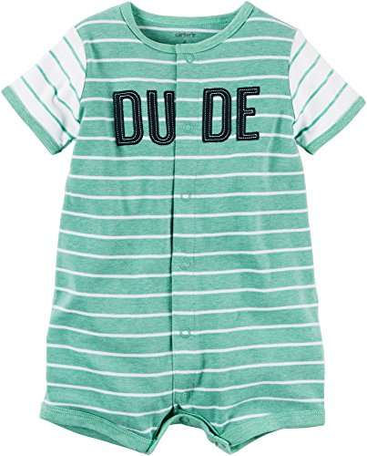 Carter's Baby Boys' Striped Dude Snap Up Romper