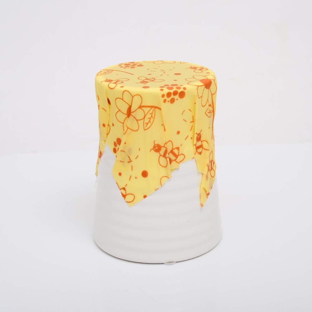 Pi/ñas Set de 3 tama/ños: Peque/ño KEISL Envoltorio de Cera de Abeja Eco Friendly Mediano y Grande Reutilizable