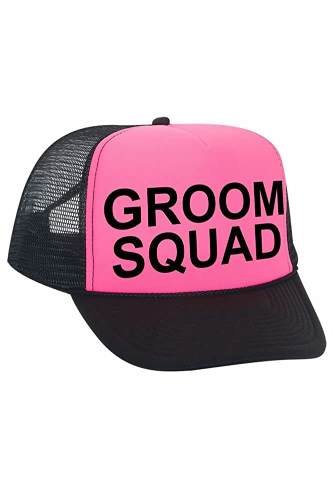 d65dbcd8 Groom Squad Trucker Hat Style TRUCKERCAP-GS, Black at Amazon Men's Clothing  store: