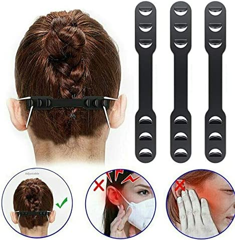 XIMIXI 8PCS Mask Ear Buckle Reduce Ear Pain and Pressure of Wearing Mask for A Long Time 6 Levels Adjustable Mask Ear Band Hooks Extension