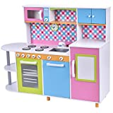 Wood Kitchen Kids Cooking Pretend Play Set