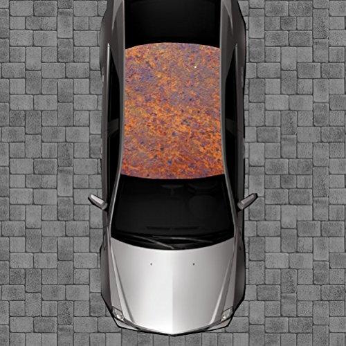 Sign Factory R106 Rust Rusty Rusted Roof Wrap - Decal Decals Wraps Vinyl Wraps Art Poster Image Carbon Hood Car Truck Fiber Hood (Custom Carbon Fiber Hoods)