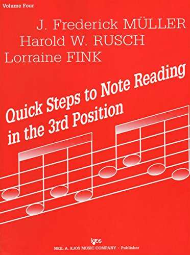 (72VN - Quick Steps to Note Reading in the 3rd Position - Volume Four - Violin)