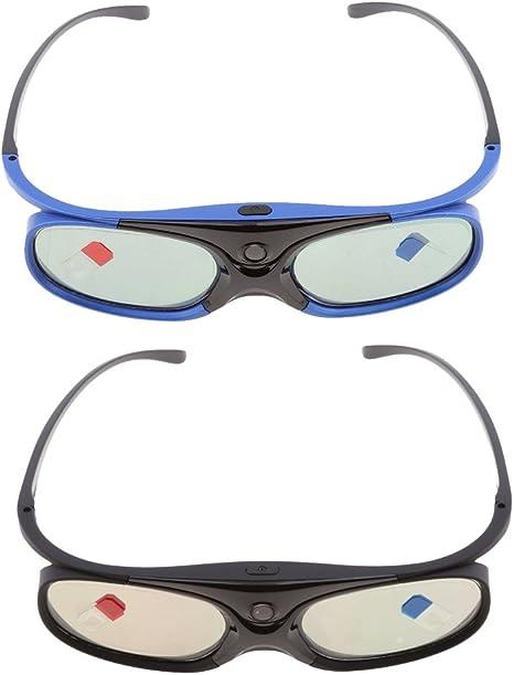 Gen'rico 2 Piezas de Gafas 3D para Proyectores DLP-Link Obturador ...