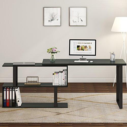 Tribesigns Modern L Shaped Desk 55 Quot Rotating Desk Corner Computer Desk Study Writing Table