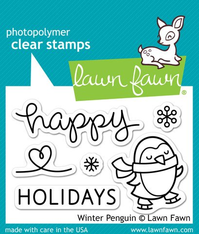 LF727 Lawn Fawn Clear Stamp - Winter Penguin