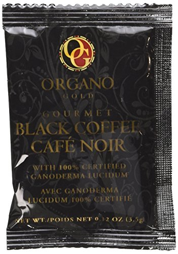 Organo Gold Gourmet Black Ganoderma Coffee (1 Box of 30 Sachets)