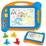 Magna Doodles 15 Inch with 4 Stamp and Mini Magnetic Drawing Board, Multi-Colors Erasable Writing...