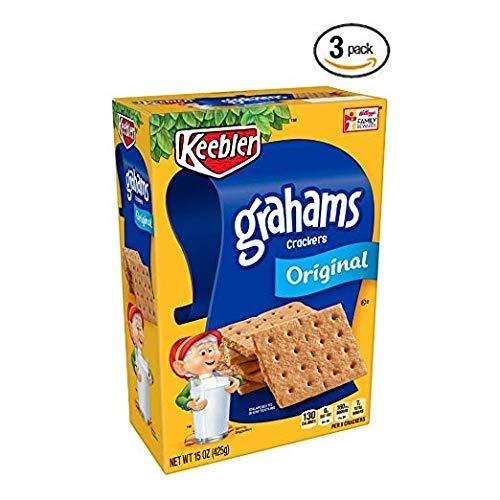 Keebler Graham Original Crackers, 15 ounce - Pack of 3