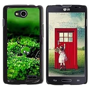 Be Good Phone Accessory // Dura Cáscara cubierta Protectora Caso Carcasa Funda de Protección para LG OPTIMUS L90 / D415 // Nature Green Moss Water