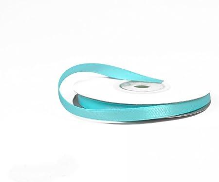 Ruban satin de 50 m de long et 15 mm de large bleu clair