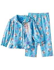 Disney Little Girls' Frozen Sisters Olaf Sparkle Snowflakes Pajama, Toddler