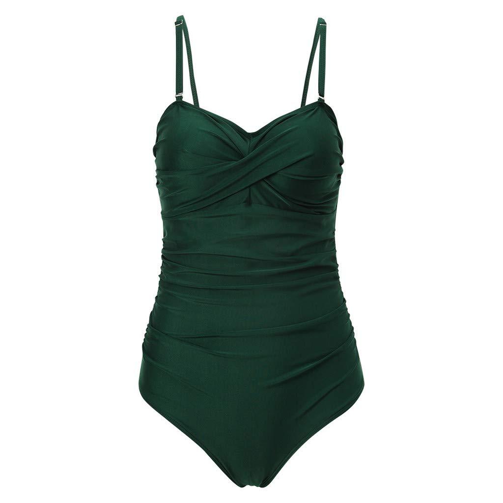 KUDICO Damen Bademode Push Up Gefüllter BH Gepolstert Bikini Set Polka-Punkt Streifen Einteiler Badeanzug Bandeau Monokini