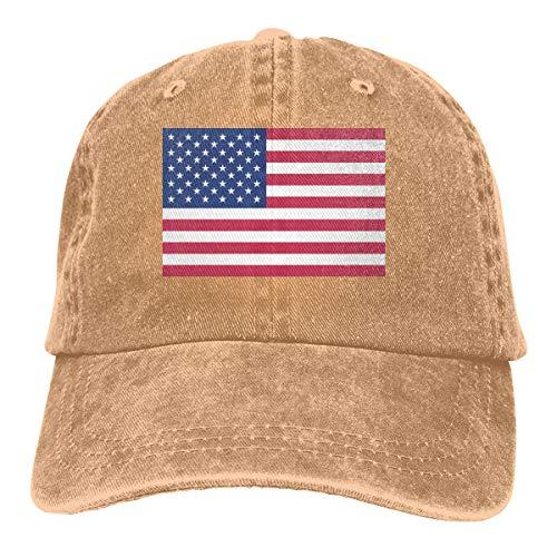 Vintage American Flag Denim Hat Adjustable Plain Cap Baseball Caps
