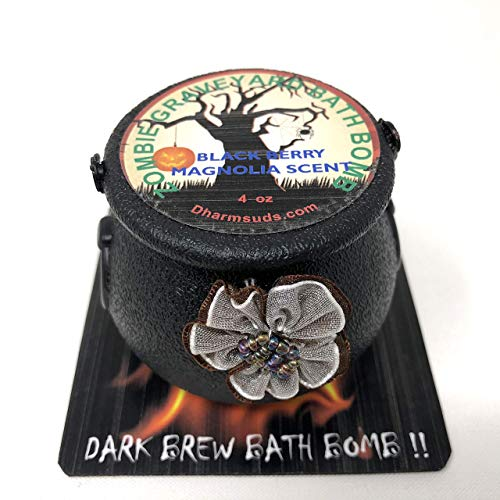 Halloween bath bomb cauldron 4 oz Zombies graveyard dark brew -