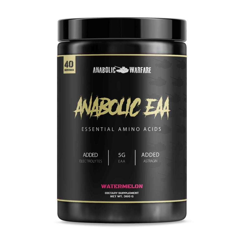 Anabolic EAA Essential Amino Acids Powder Supplement by Anabolic Warfare - Amino Acids to Help Fuel and Recover (Watermelon - 40 Servings)