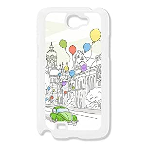Galaxy Note 2 Cases Balloon Design Hard Back Cover Cases Desgined By RRG2G