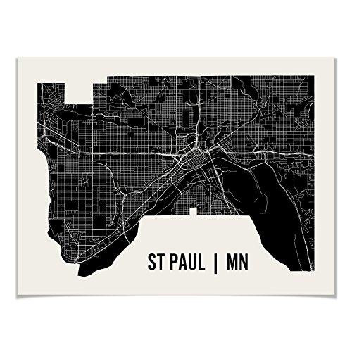 St Paul Map Art Print by Mr City Printing