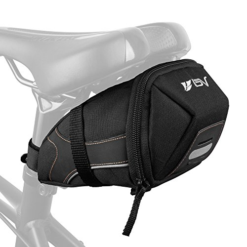 Bike Pouch (BV Bicycle Y-Series Strap-On Bike Saddle Bag / Bicycle Seat Pack Bag, Cycling Wedge with Multi-Size Options)