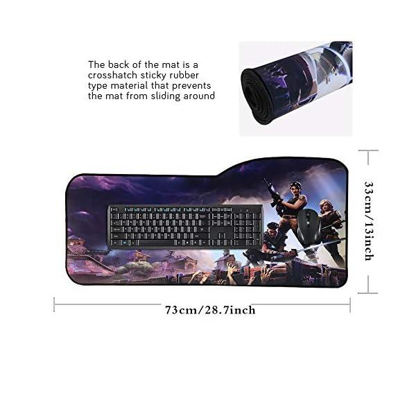 TEMOR Alfombrilla de ratón Grande Alfombrilla Gaming ratón láser, óptico XXL 900x400mm, Lavable, Base de Caucho para… 4