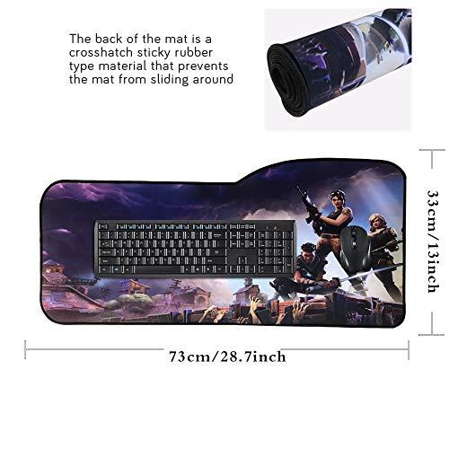 Alfombrilla de ratón Profesional para Videojuegos, diseño Personalizado, Bordes cosidos, Impermeable, Base de Goma Antideslizante, Ideal para portátil, Ordenador y PC 3