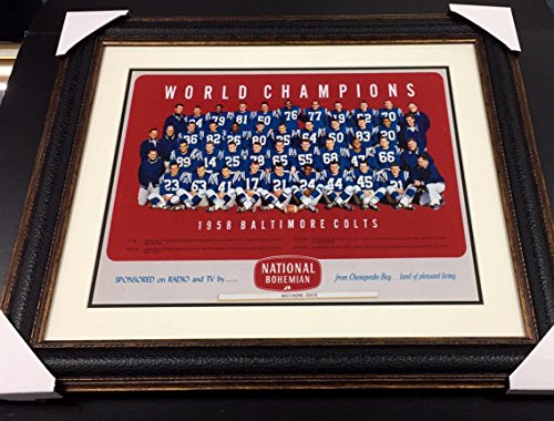 16x20 Framed Photo (BALTIMORE COLTS 1958 WORLD CHAMPIONS TEAM PHOTO JOHNNY UNITAS 16X20 PHOTO FRAMED)
