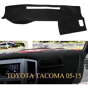 The ArtDeco Premium Custom Carpet Dash Cover for 2011~2015 Toyota Tacoma Black Dash Mat