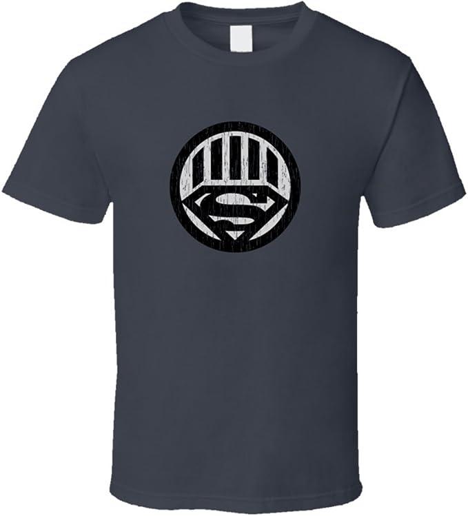 Black Lantern Superman Logo Distressed Comics Superhero ...  Black Lantern Superman Symbol