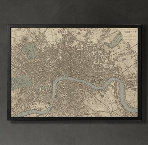London Map Print, Home or office Decor