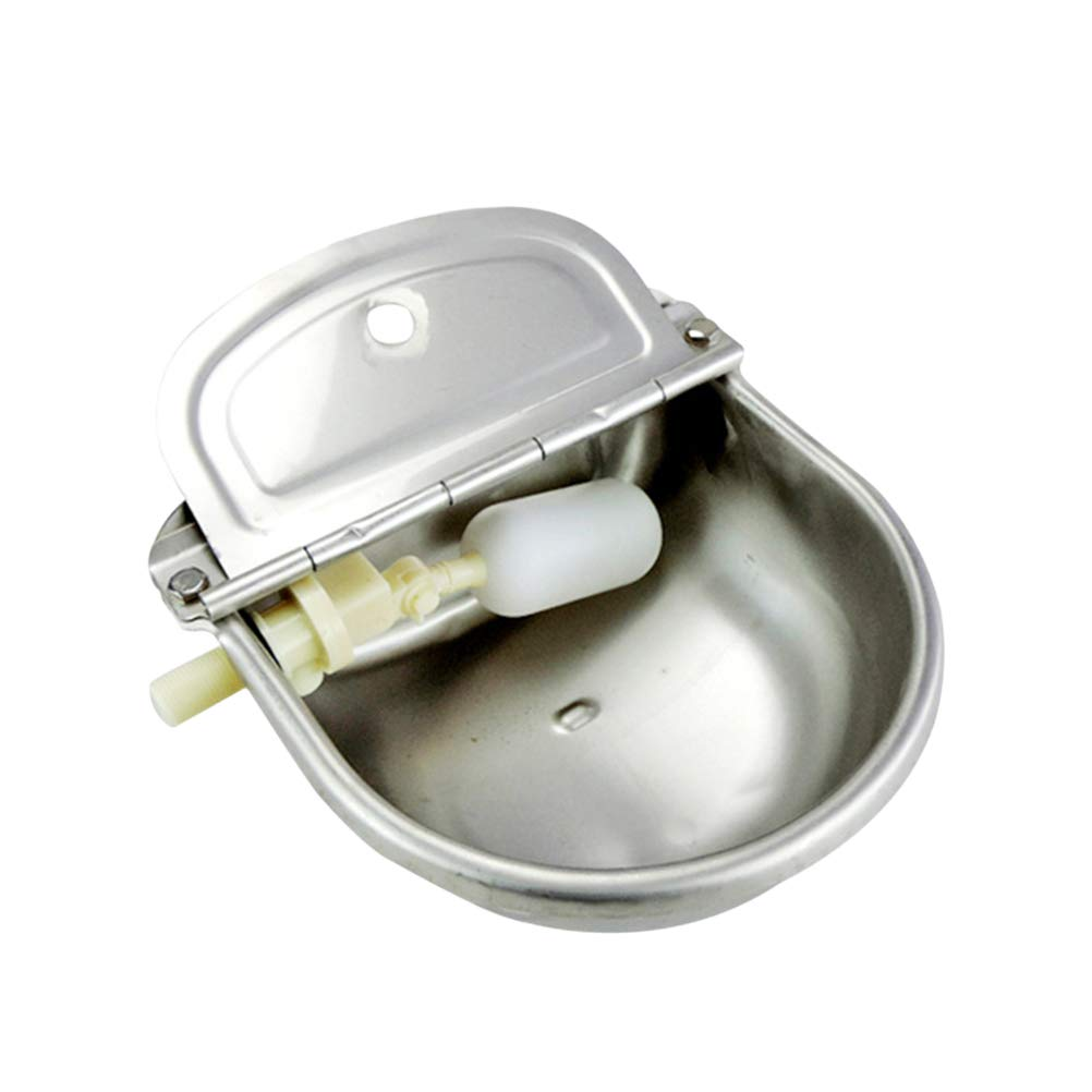 Balacoo Stainless Steel Automatic Water Bowl Farm Waterer for Cow Cattle Goat Sheep Horse Water Trough by Balacoo