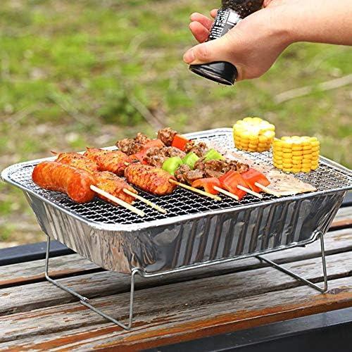 QHAI Barbecue Portable jetable Grill Accueil extérieur Pique-Nique Poêle Barbecue à Charbon